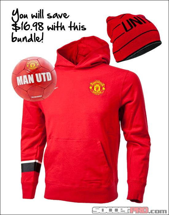 detailed look 422ba e98f4 Manchester United Fan Gift Pack - Youth - Hoodie, Mini Ball ...