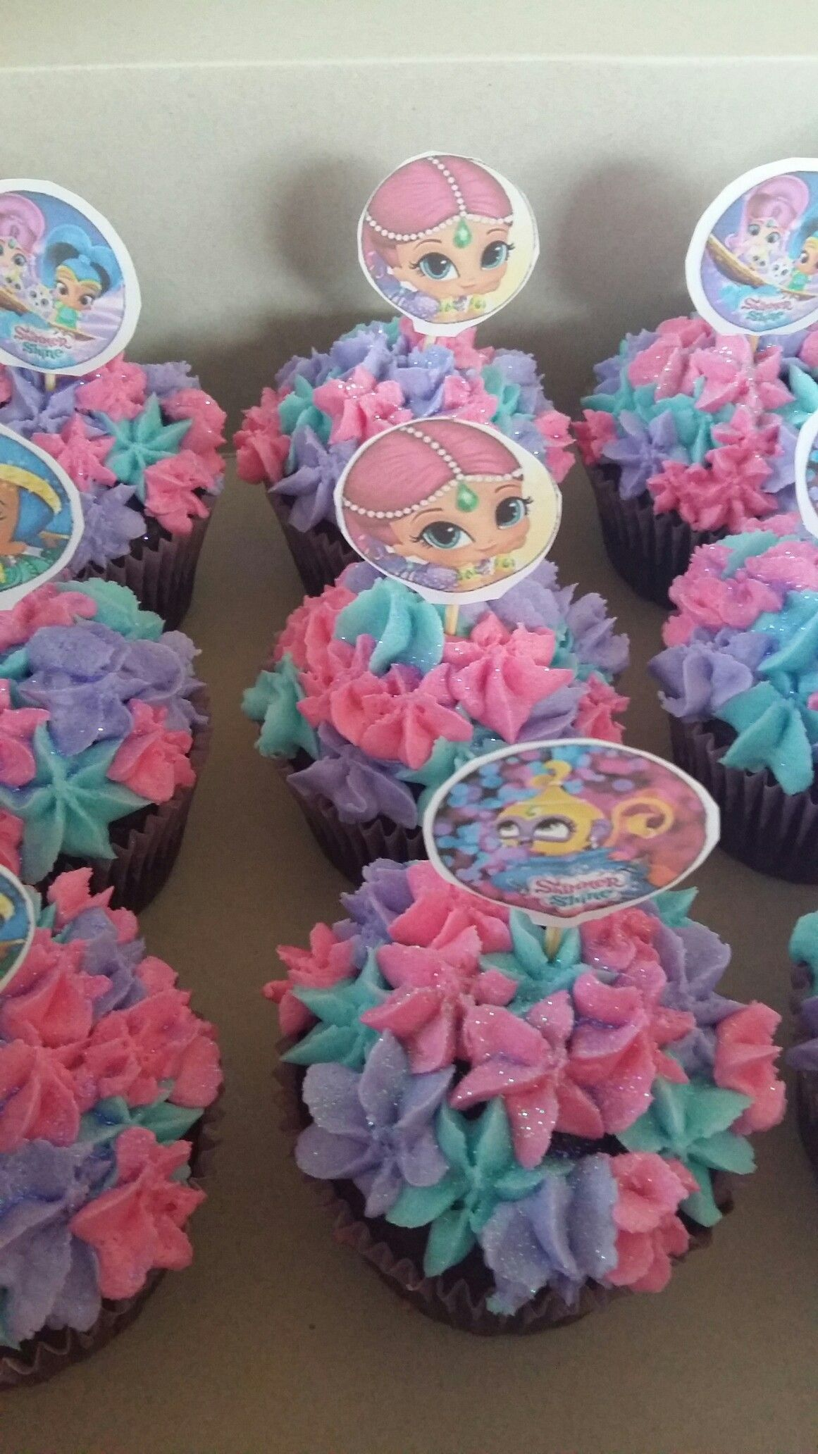 Shimmer and shine cupcakes | My Creations | Pinterest ...
