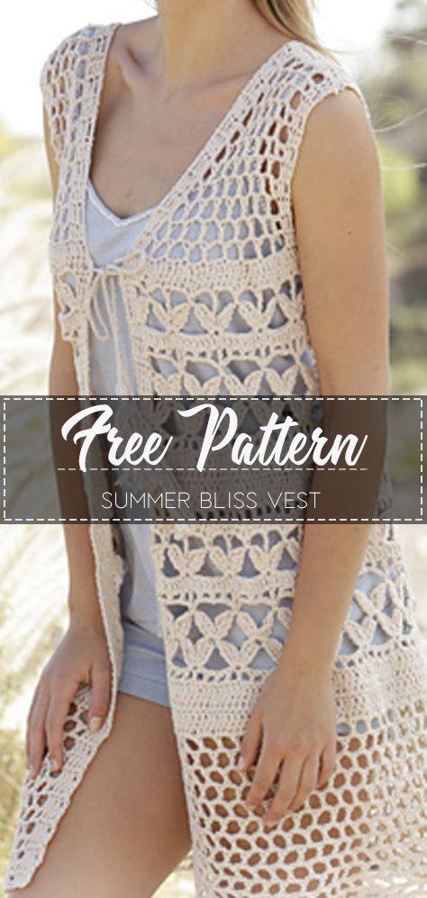 Summer Bliss Vest – Free Pattern – Free Crochet #freepattern