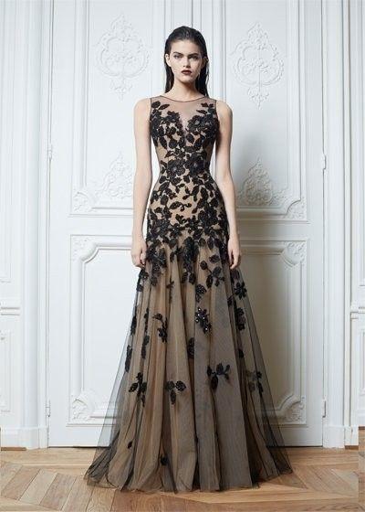 Bateau A-LinePrincess Applique Floor-Length Net Evening Dresses ...