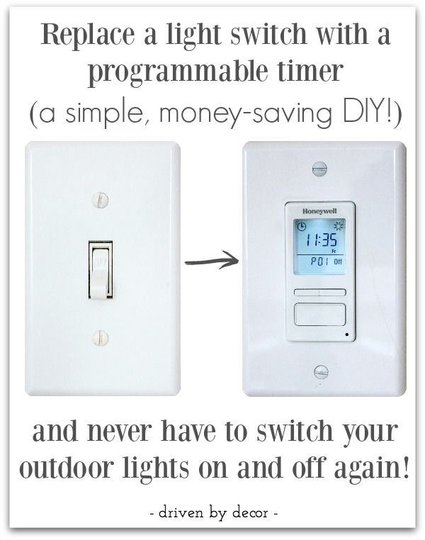 Love The Idea Of A Timer That Turns Outdoor Lights On And