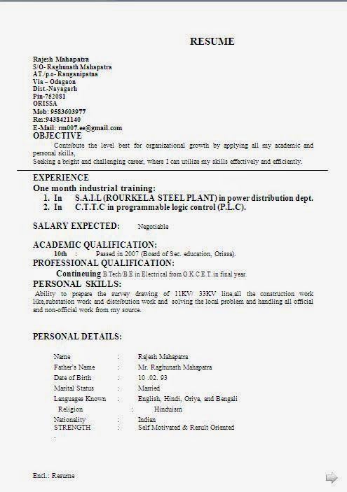 canadian cv format beautiful professional curriculum vitae resume format with career objective job profile - Canadian Format Resume