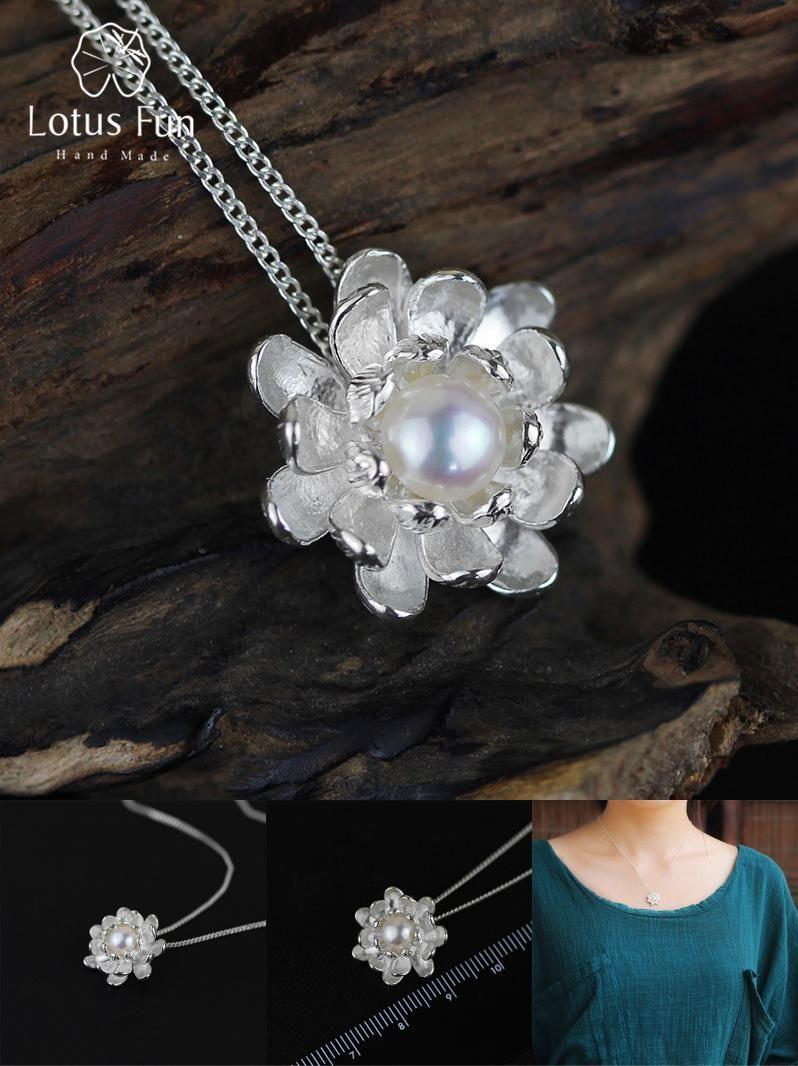 Blooming lotus designs women s -  Visit To Buy Lotus Fun Real 925 Sterling Silver Natural Pearl Handmade Fine Jewelry