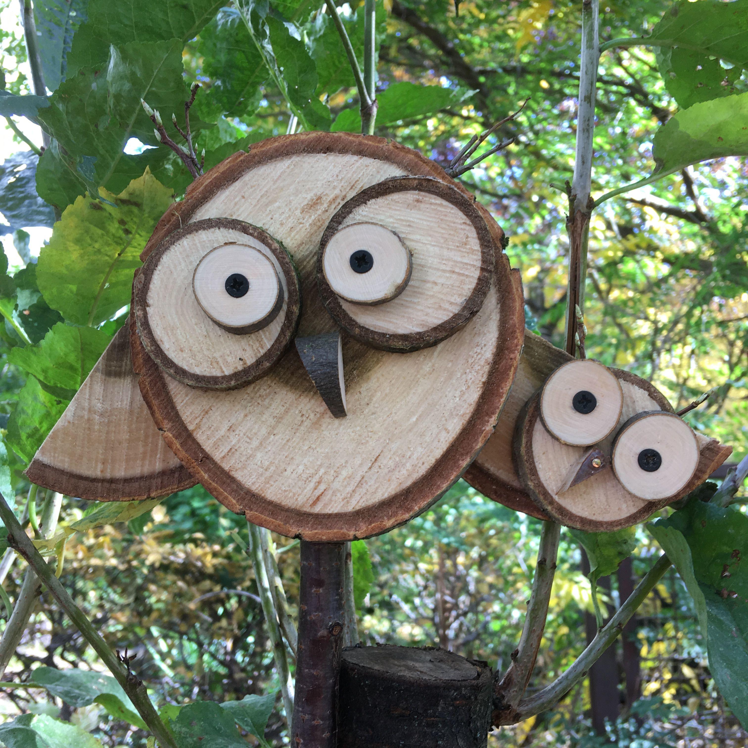 Eulenmama Aus Baumscheiben Baumscheiben Deko Weihnachten Baumscheiben Deko Basteln Mit Holz