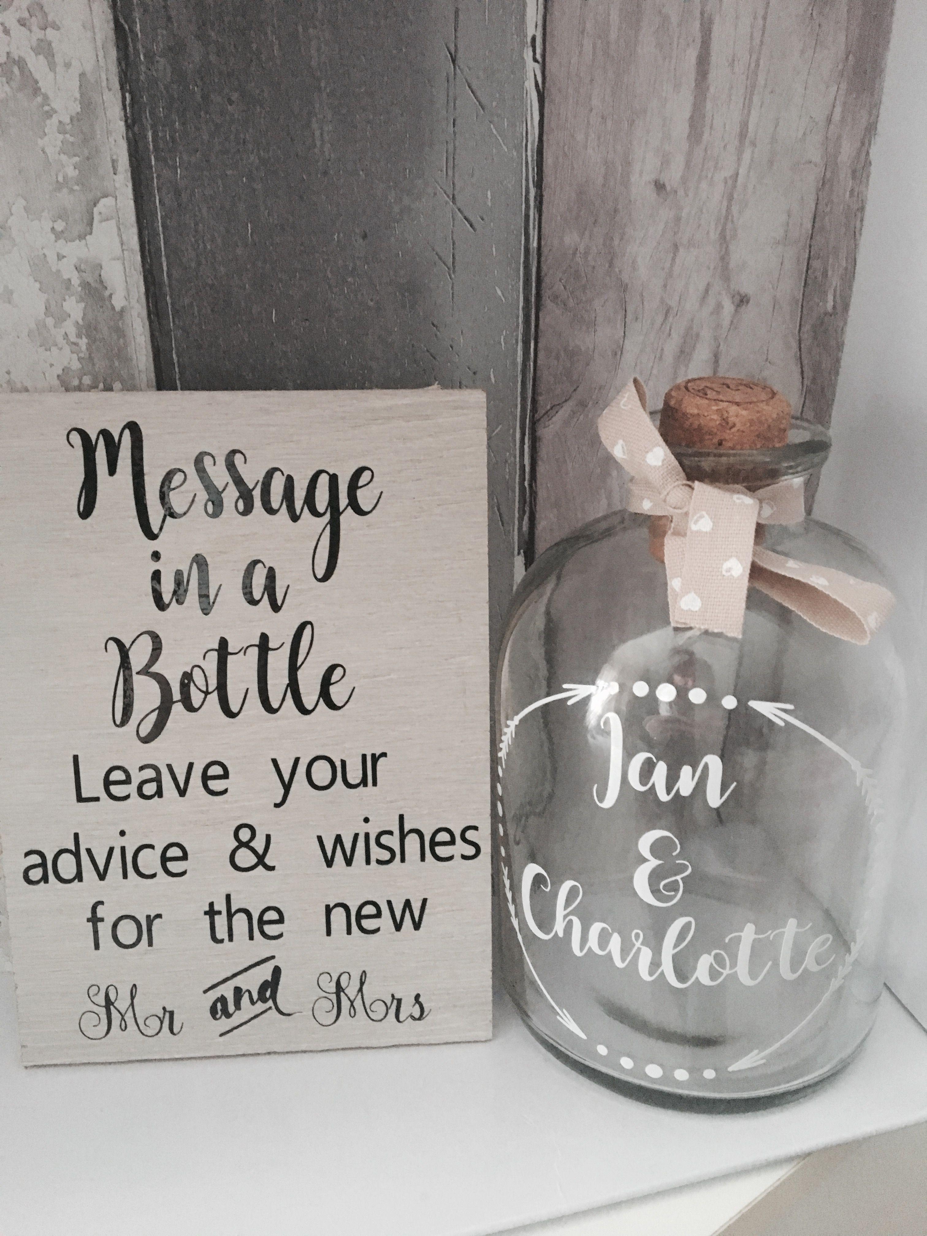 Message in a bottle wedding  Ricks Wedding  Wedding