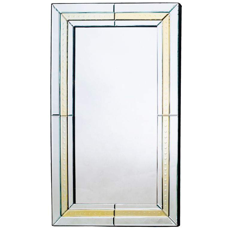 French Art Deco Venetian Style Mirror