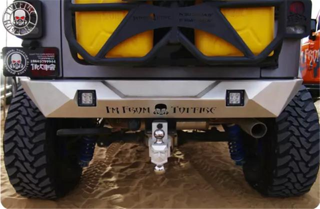Source Blade Silver Rear Bumper I For Jeep Wrangler Steel Topfire
