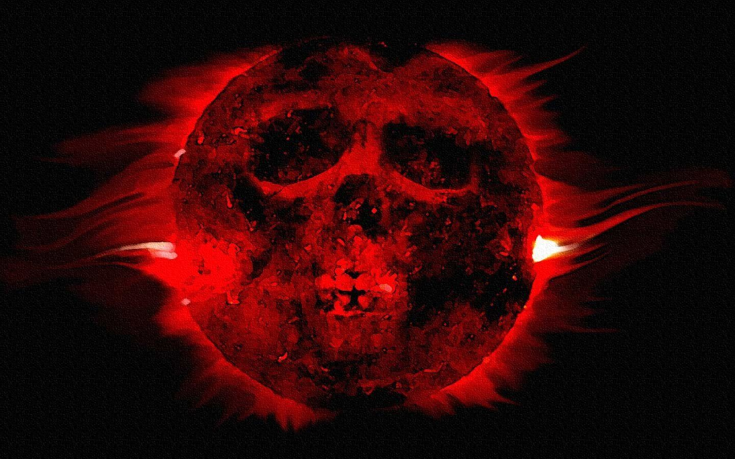 Dark Skull Moon Blood Wallpaper Blood Wallpaper