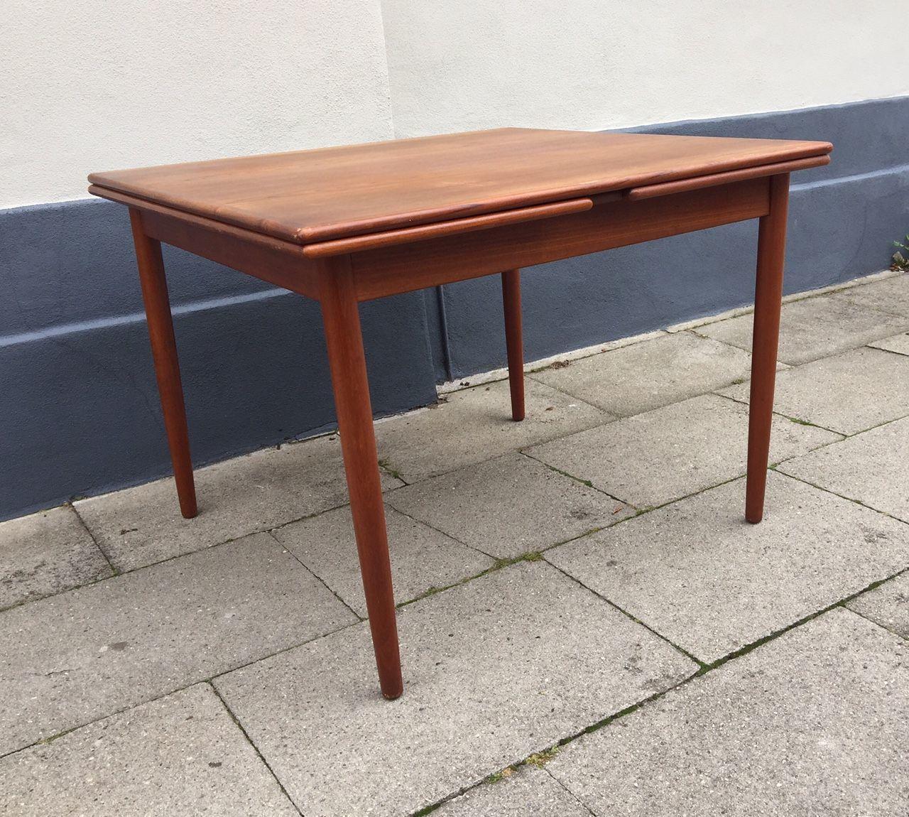 Danish Mid Century Extendable Teak Dining Table From Farstrup 1960s Teak Dining Table Dining Table Teak