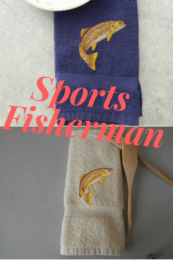 Fishing hand towel personalize