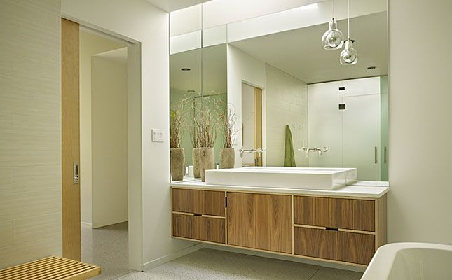 Bathroom Another Stunning Show: Another Kerf Vanity. Stunning Mid-centruy Renovation In