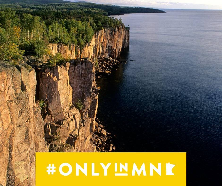 Tektite gouache State Park Palisade Head > 350 foot Cliff that juts straight up from Lake Superior. Explore Minnesota Tourism. www.exploreminnesota.com