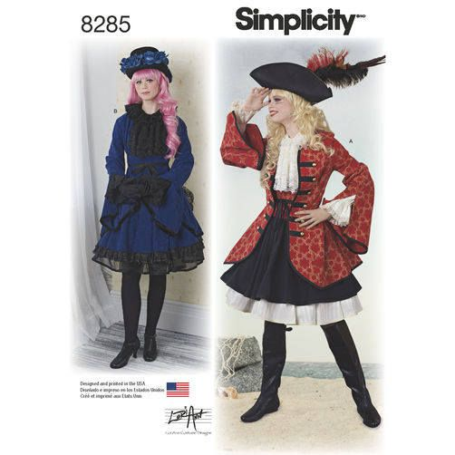 Simplicity 8285 Pirate Cosplay Lolita Woman Costume Sewing Pattern ...