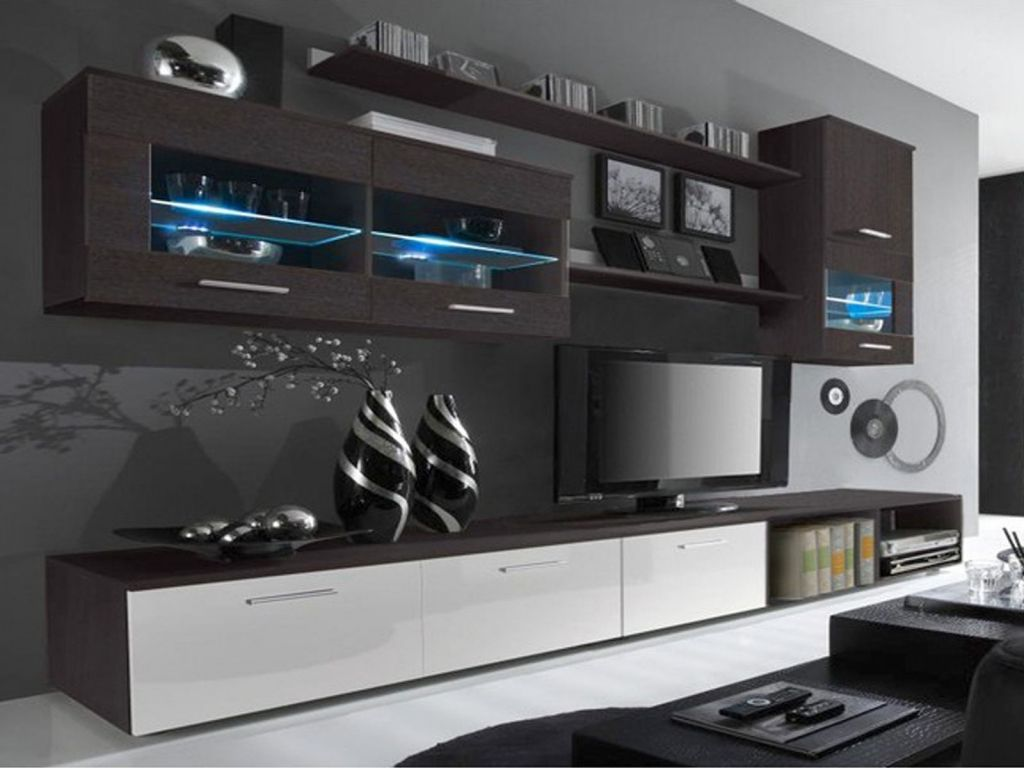 Cool White Gloss Living Room Cabinets Pertaining To Residence Check More At