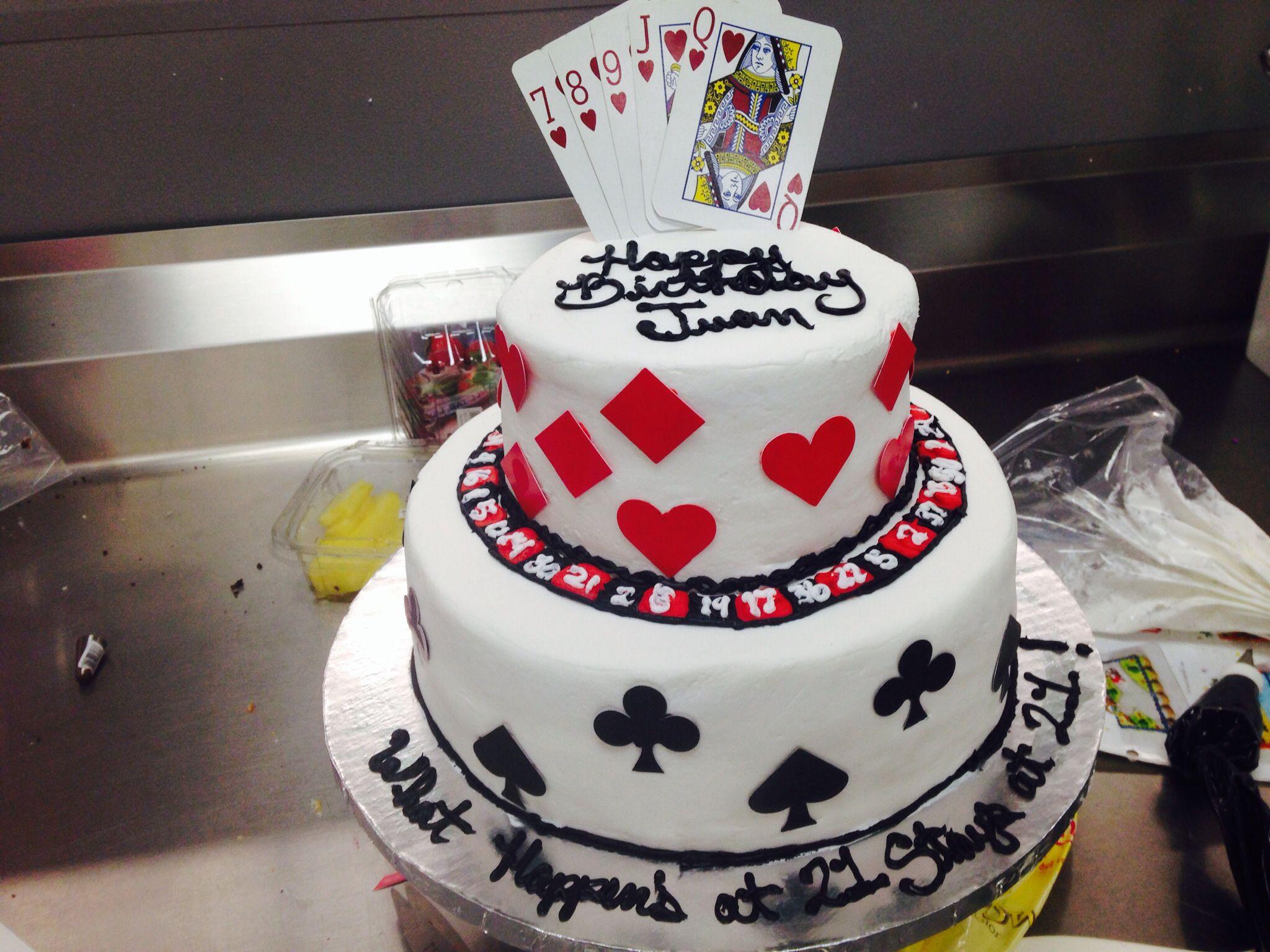 Two tier poker cake Walmart cake Casino cake Buttercream cake