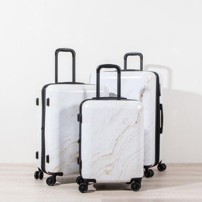 Gold Marble 3-Piece Luggage Set - Gold Marble