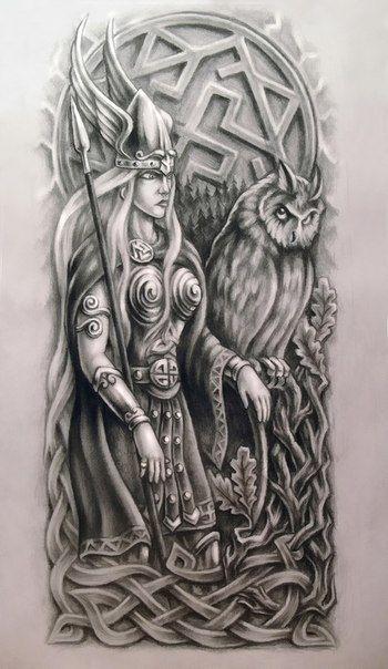 Valkyria Valkirie Wzory Tatuaży Celtyckie I Tatuaże