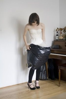How to go to the bathroom in a wedding dress.