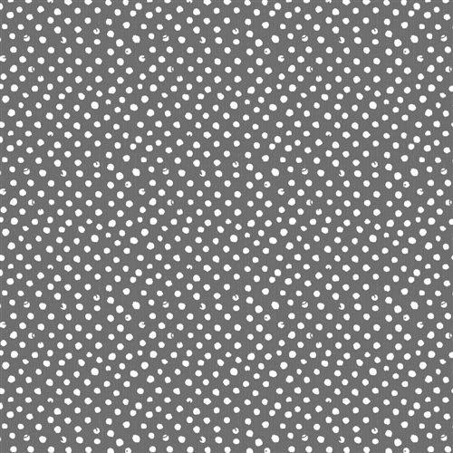 """$10.30/yd 45"""" wide Playtime Gray Dots Fabric by the Yard 