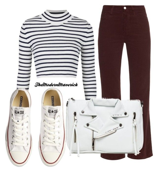 """Untitled #1382"" by theblushingbeauty on Polyvore featuring AG Adriano Goldschmied, Topshop and Converse"