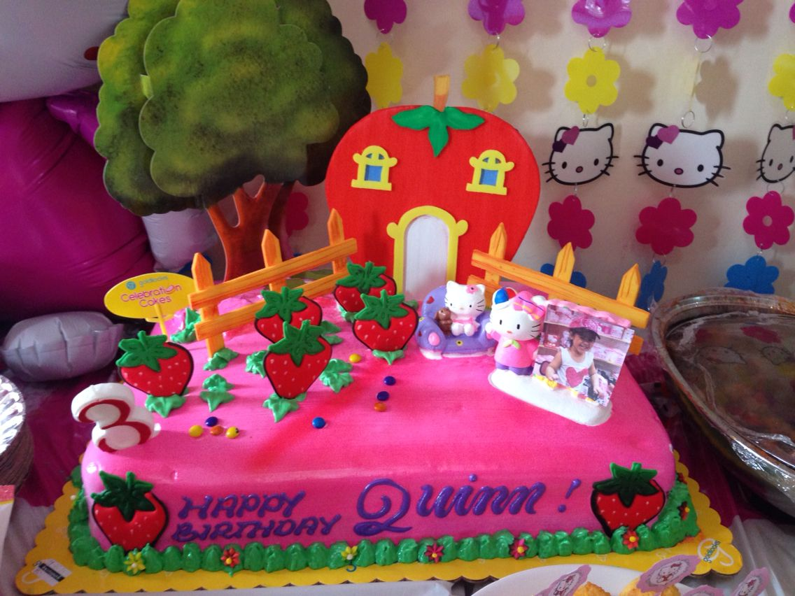 The Birthday Cake From Goldilocks Bakeshop Quinn S 3rd Birthday