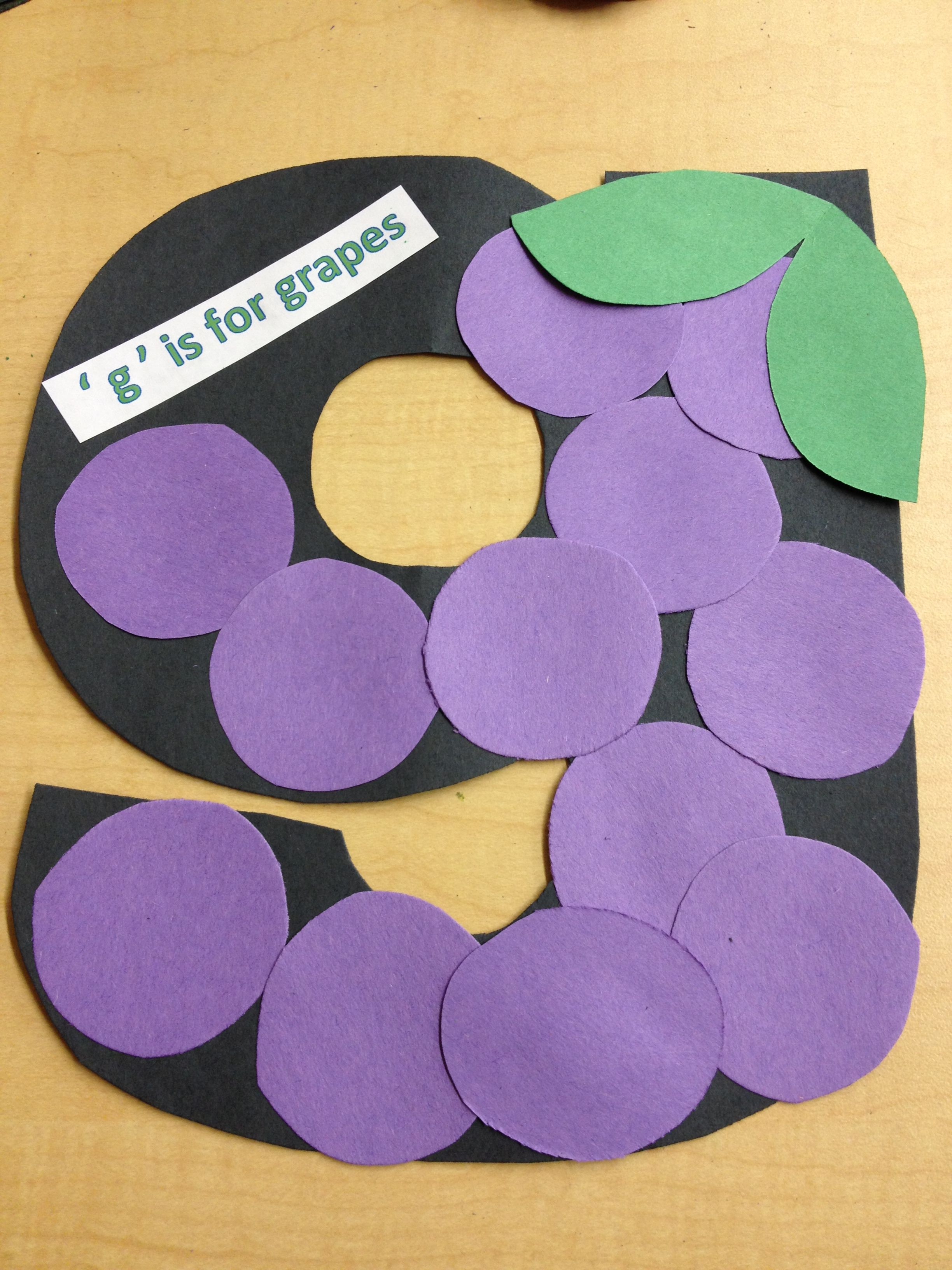 Lowercase G Preschool Craft With Images