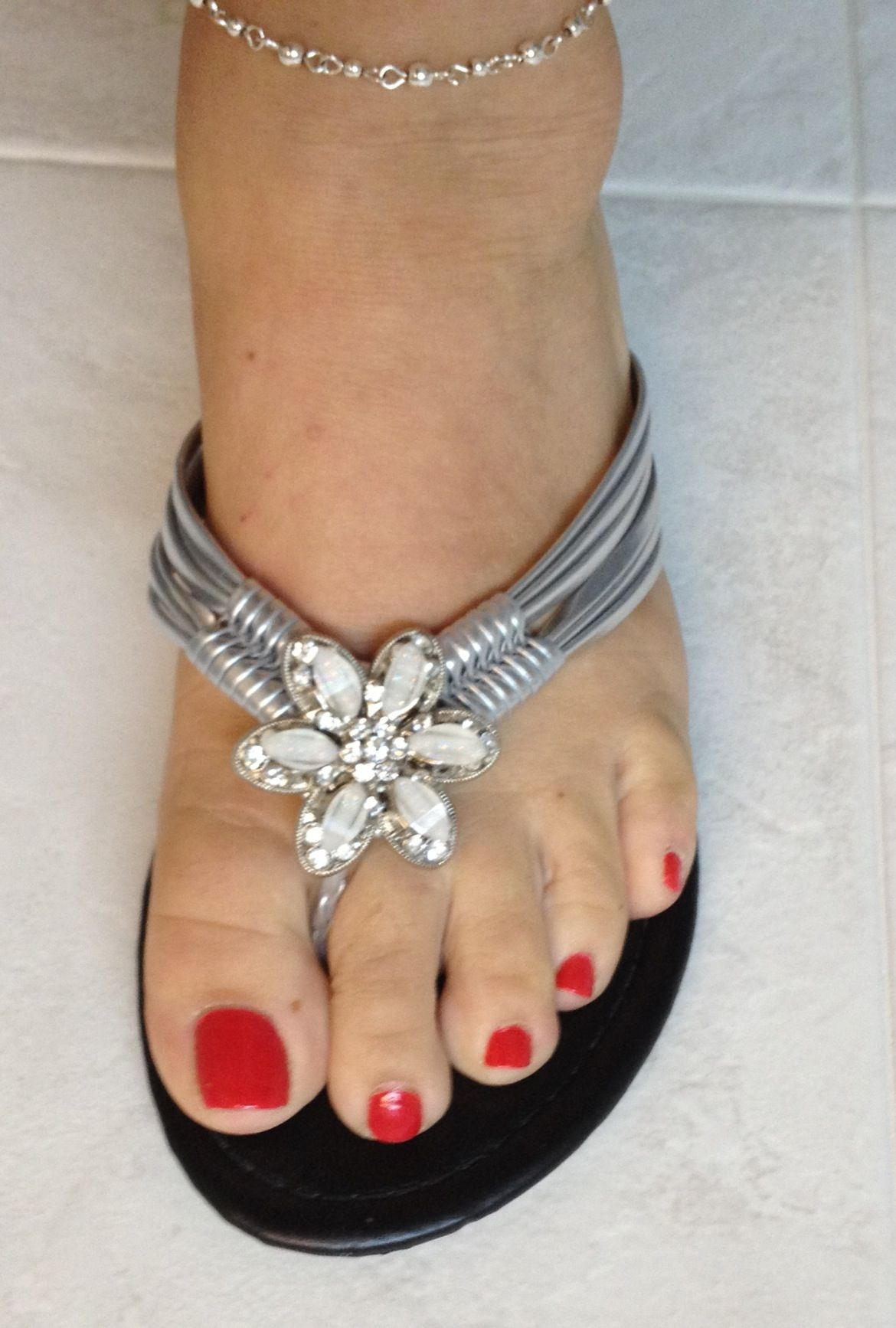 Cute sandals from charming Charlie's.