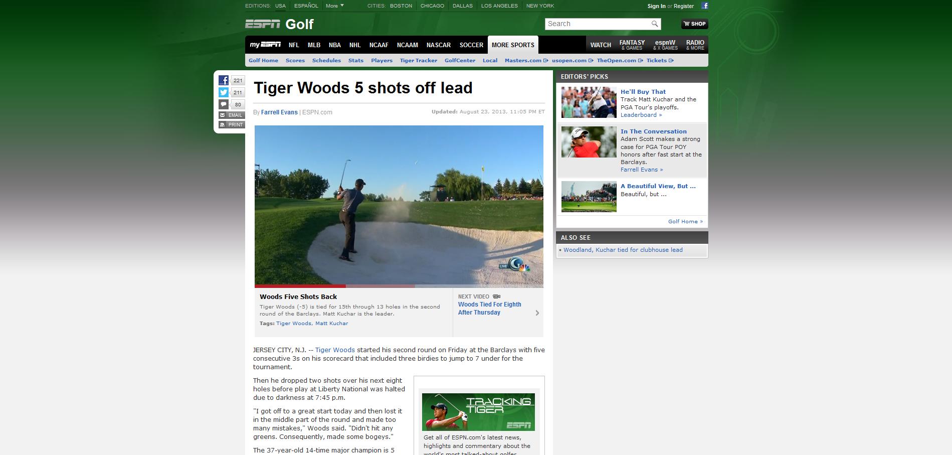 Tiger Woods 5 shots off lead http://espn.go.com/golf/story/_/id ...
