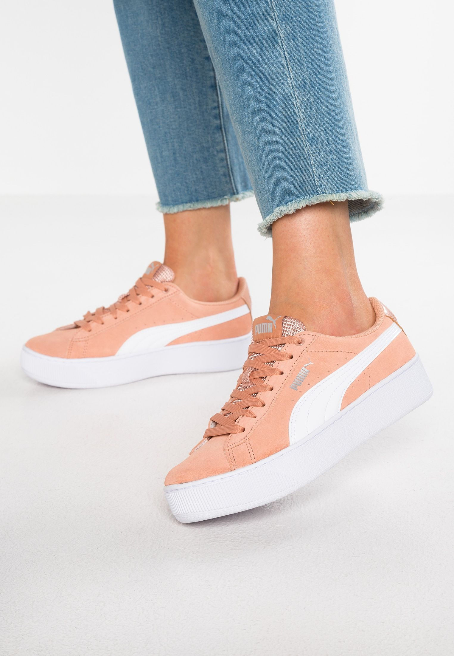 low cost 0c5df 29bc9 Puma VIKKY PLATFORM - Sneakers - dusty coral white - Zalando.se
