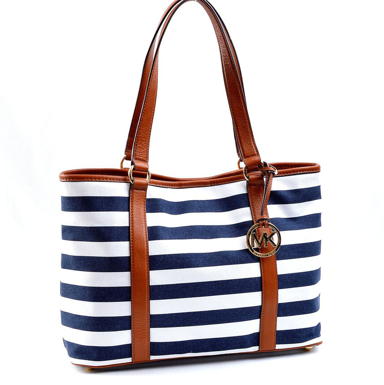 Designer Handbags Rescue - Michael Kors Summer Stripe Large E/W ...