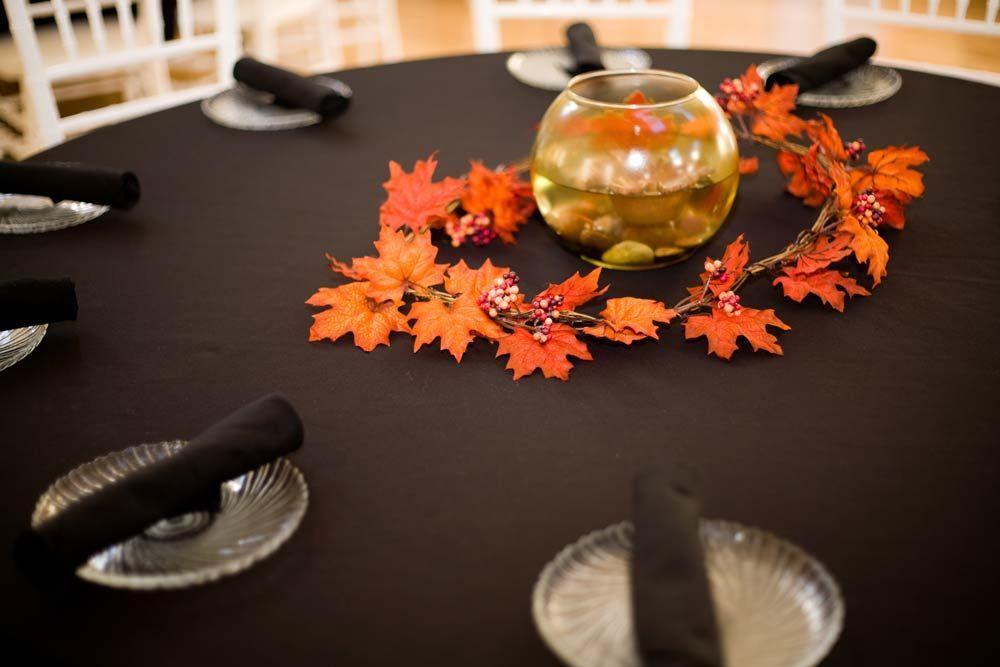 Autumn table centrepiece Autumnal Wedding Ideas Pinterest