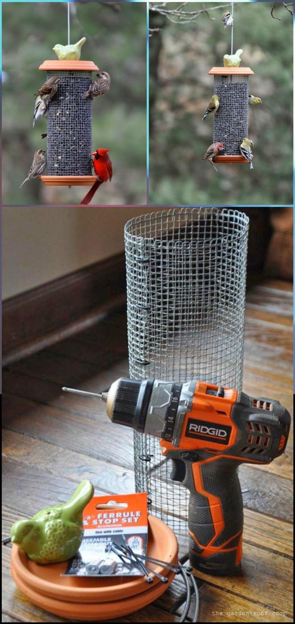 fabriquer une mangeoire d 39 oiseaux en r cup rant c 39 est. Black Bedroom Furniture Sets. Home Design Ideas