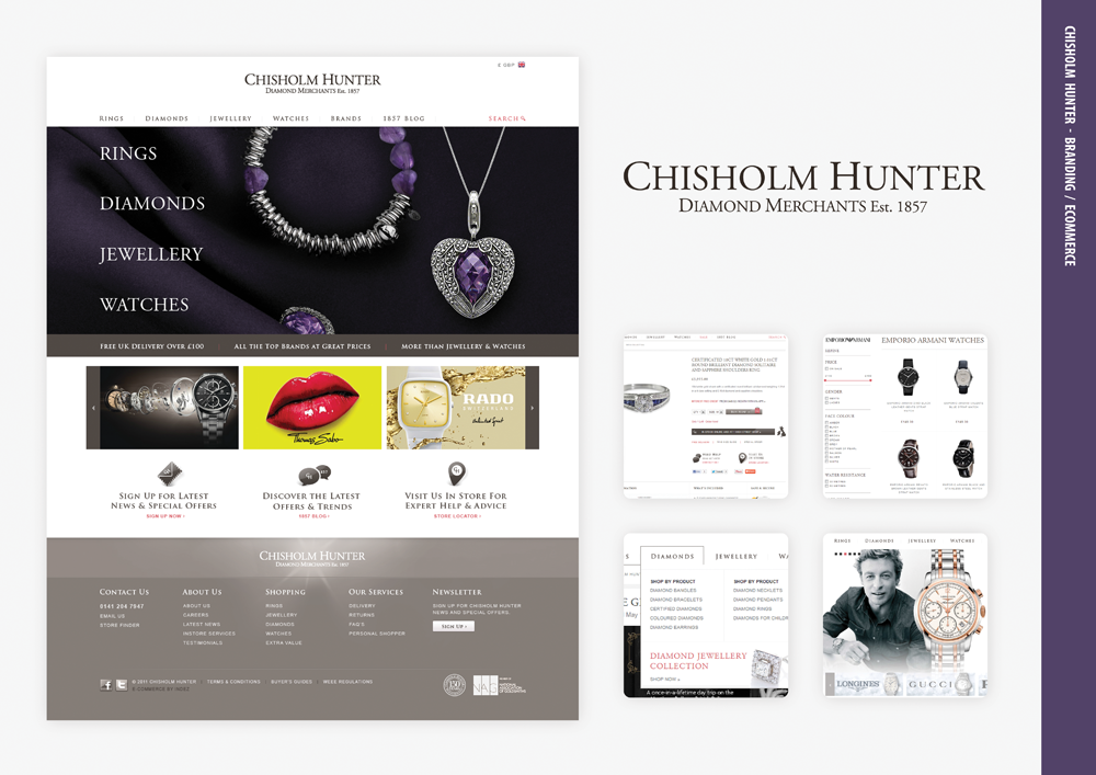 Www Chisholmhunter Co Uk Is A Highly Succesful Online Jeweller Indez Producted The Both Ecommerce Design And Ecommerce Design Web Development Agency Ecommerce