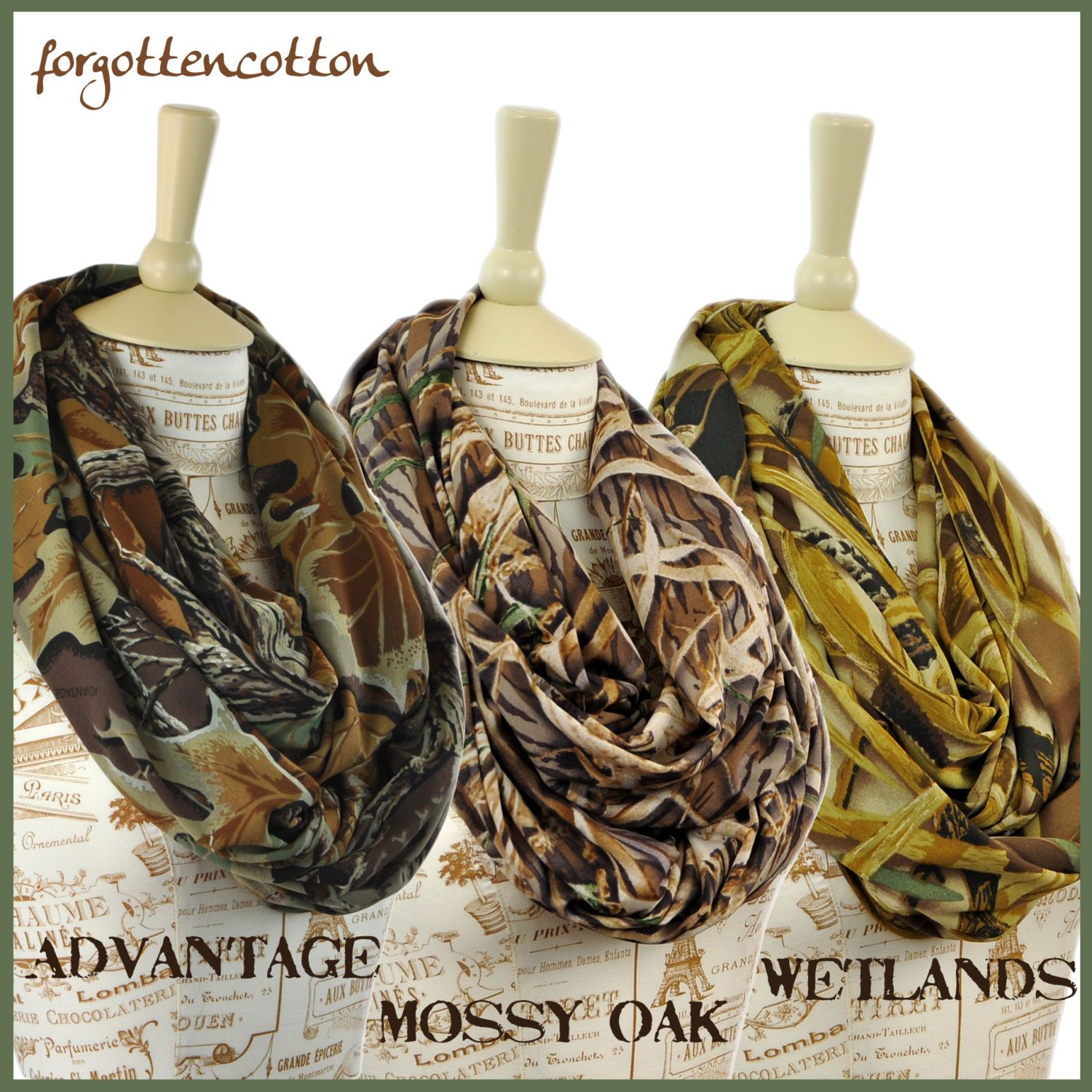 Real Tree Scarf Camo Infinity Mossy Oak By Forgottencotton