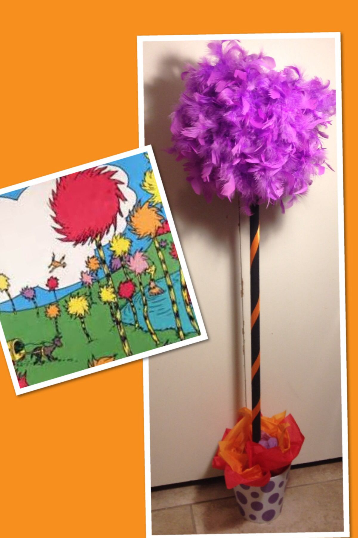 Dr Seuss truffula trees I made for work (With images
