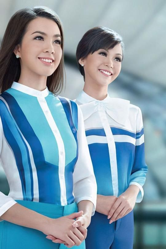 The world s chicest flight attendant uniforms flight for Spa uniform canada