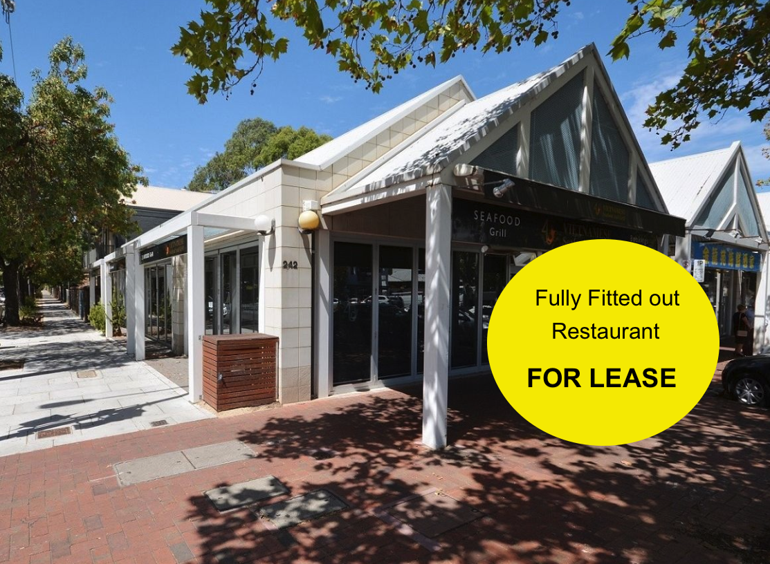 **JUST LISTED** Fully Fitted out Restaurant For Lease