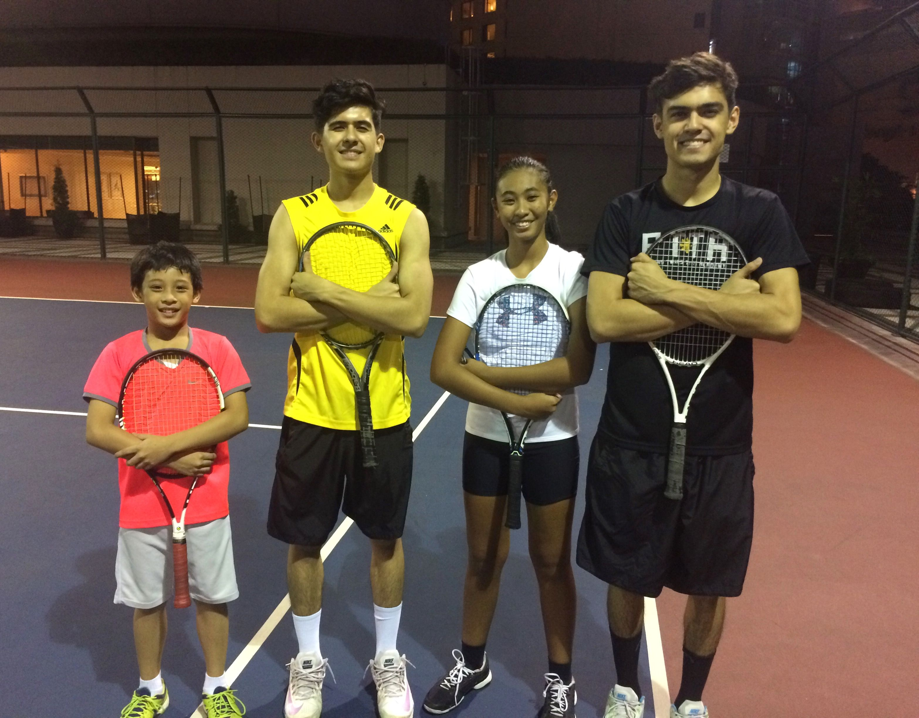 Philippine Tennis Players EdsaShangriLa