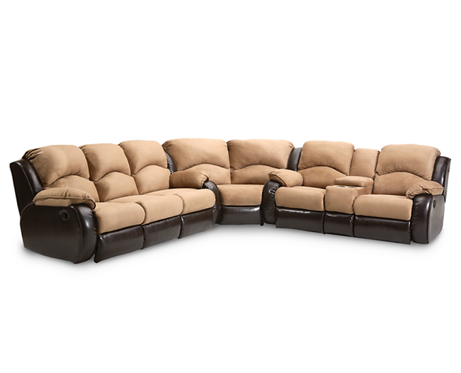 For The Media Room N Shenandoah 3 Pc Sectional Sofa Mart