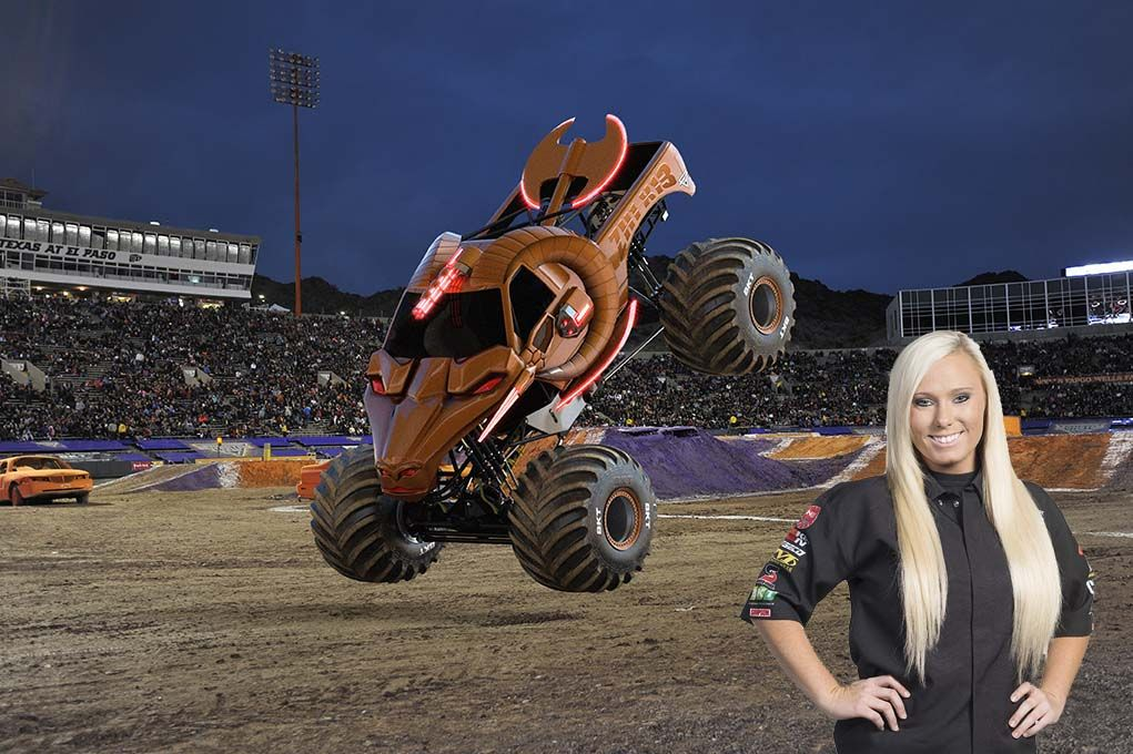 Zombie Hunter Driver Myranda Cozad With Images Monster Trucks Monster Jam