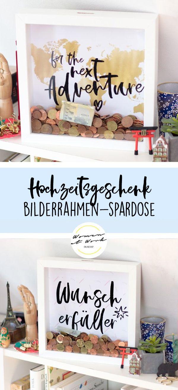 Bilderrahmen-Spardose #christmasweddingideas