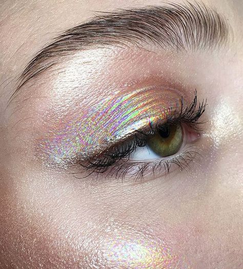 holographic makeup #dollcare