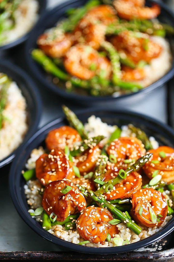 Shrimp and Asparagus Stir Fry Meal Prep