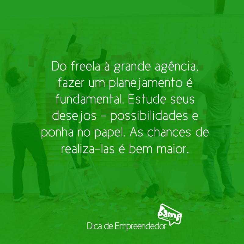 Nos últimos dias do ano, está valendo uma #DicaBamp de #Empreendedor com #Planejamento e #Organização para #2015.