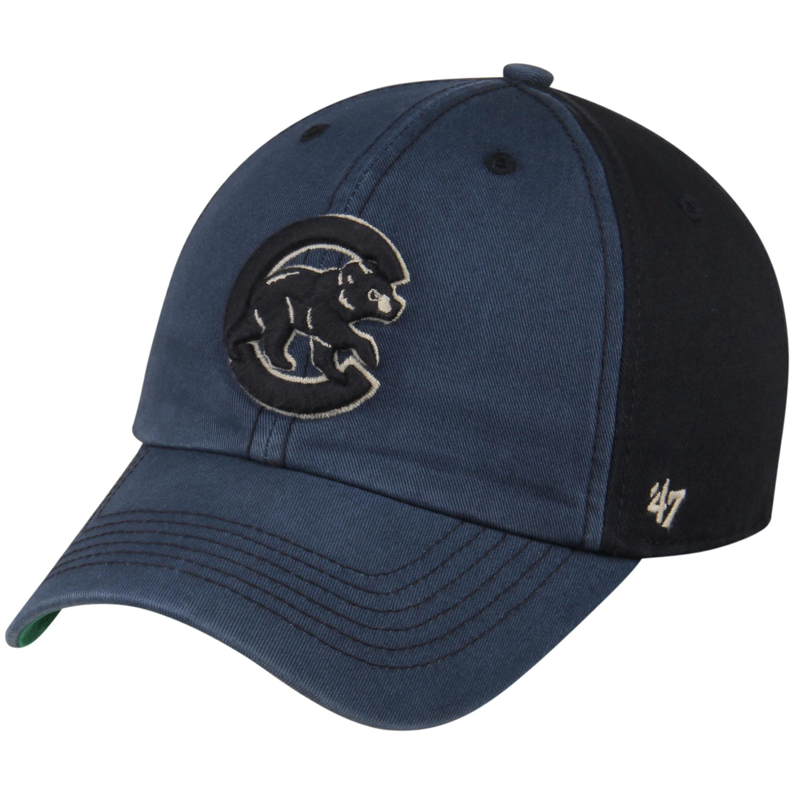 Chicago Cubs  47 Humboldt Franchise Fitted Hat - Navy Black  c00b063630ad