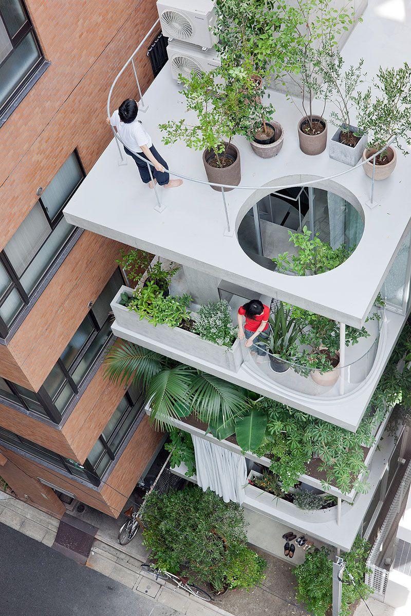 Terrazze verdi | architettura | Pinterest | Terrazze, Facciate e ...