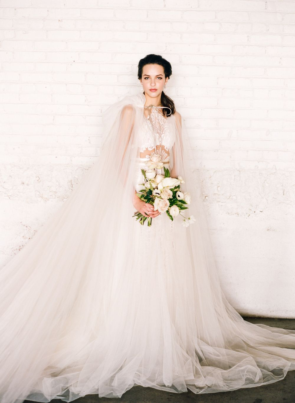 Modern styled shoot at the moss in denver galia lahav denver and galia lahav flavia gown and elise cape from little white dress bridal shop connie whitlock photography at moss in denver junglespirit Images
