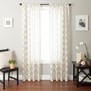 Tan Curtains But Maybe A Festive Inner Sheer For The Sliding Glass