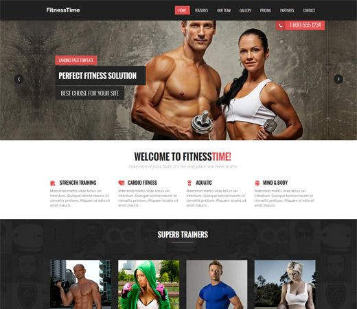 17 Best images about Free Sport HTML Templates – Fitness Templates Free