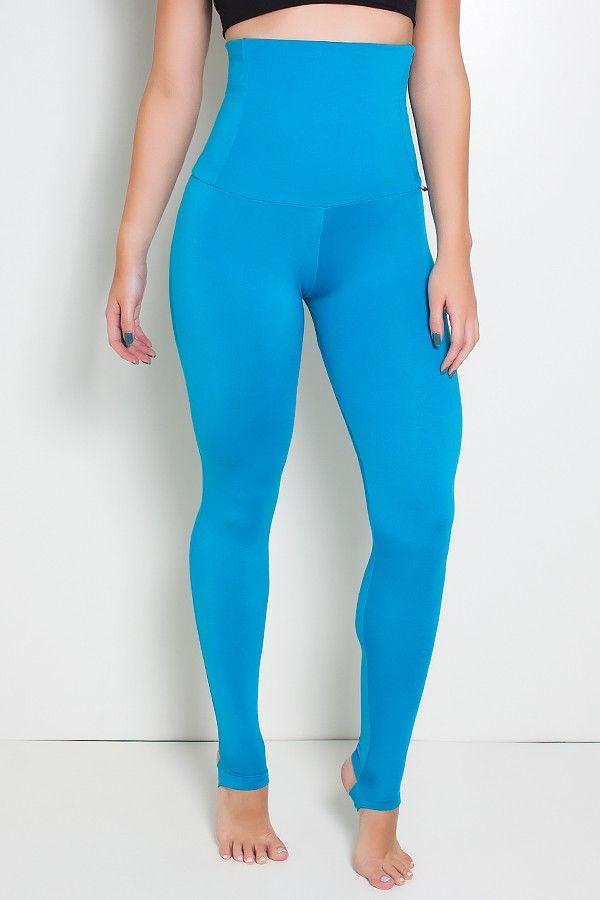 b2a974d24 Calça Modeladora com Pezinho (Azul Celeste) | R$75 | Calça Legging ...